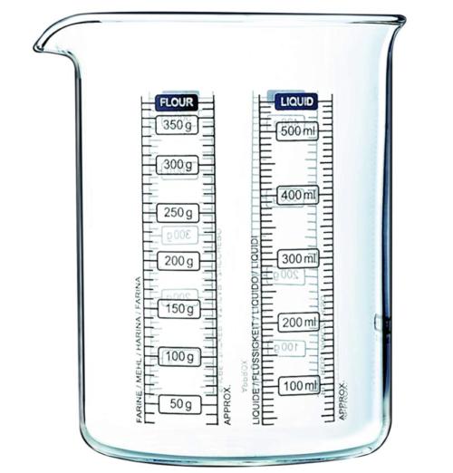 bicchiere dosatore pyrex