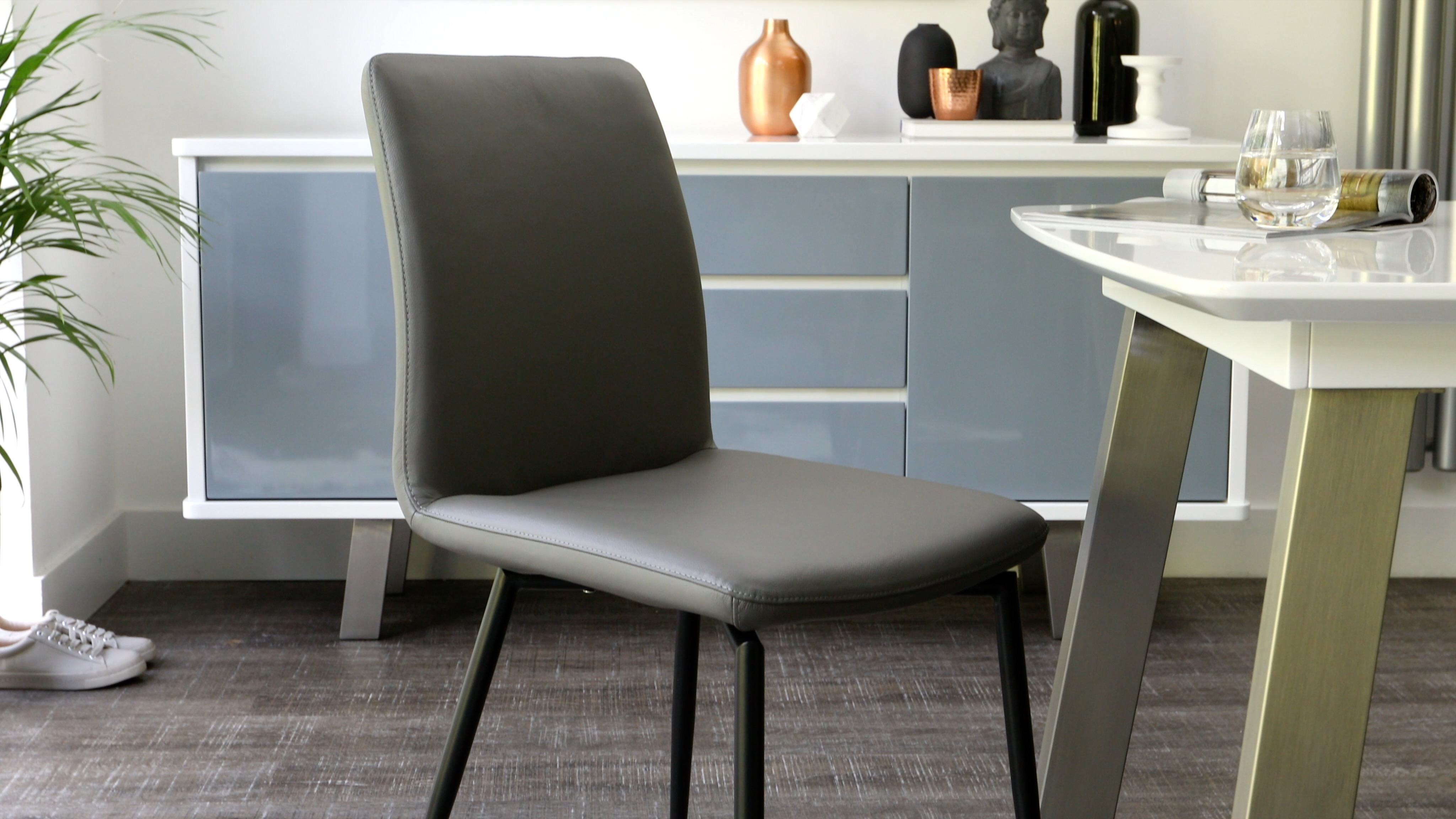 Bella Real Leather Dining Chairs Danetti
