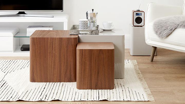 Oak Side Tables Dice Shaped Side Tables UK Delivery