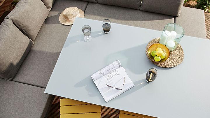 019b5a14f346d Fresco White 6 Seater Trestle Garden Table - Danetti UK