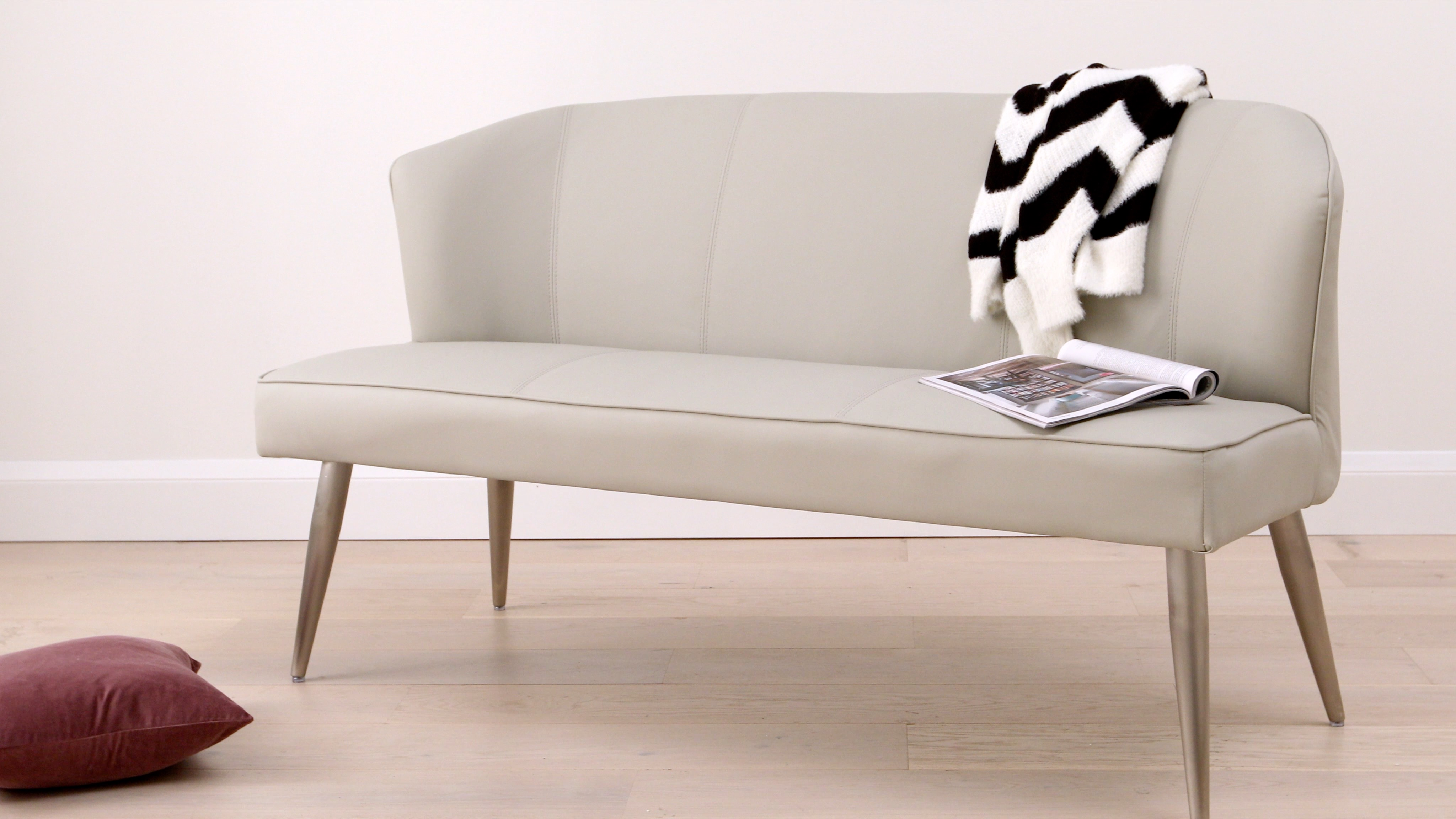 Awe Inspiring Mellow 3 Seater Dining Bench With Back Danetti Andrewgaddart Wooden Chair Designs For Living Room Andrewgaddartcom
