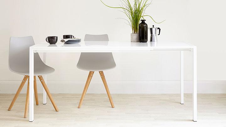 metro extending dining table - White Extending Dining Table