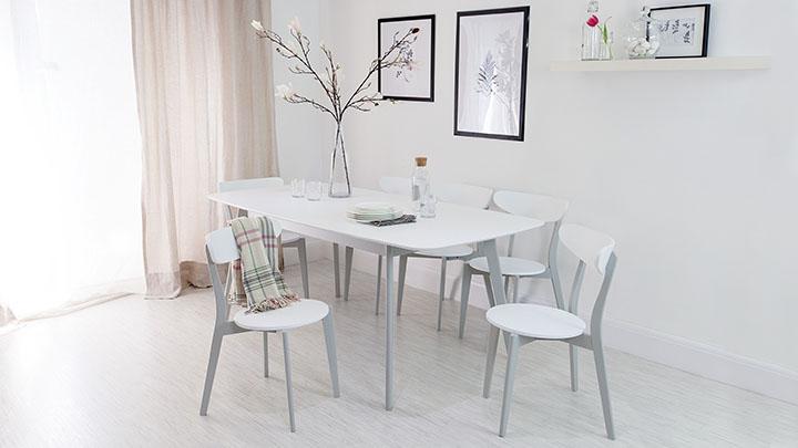 Senn Oak And White Dining Chair