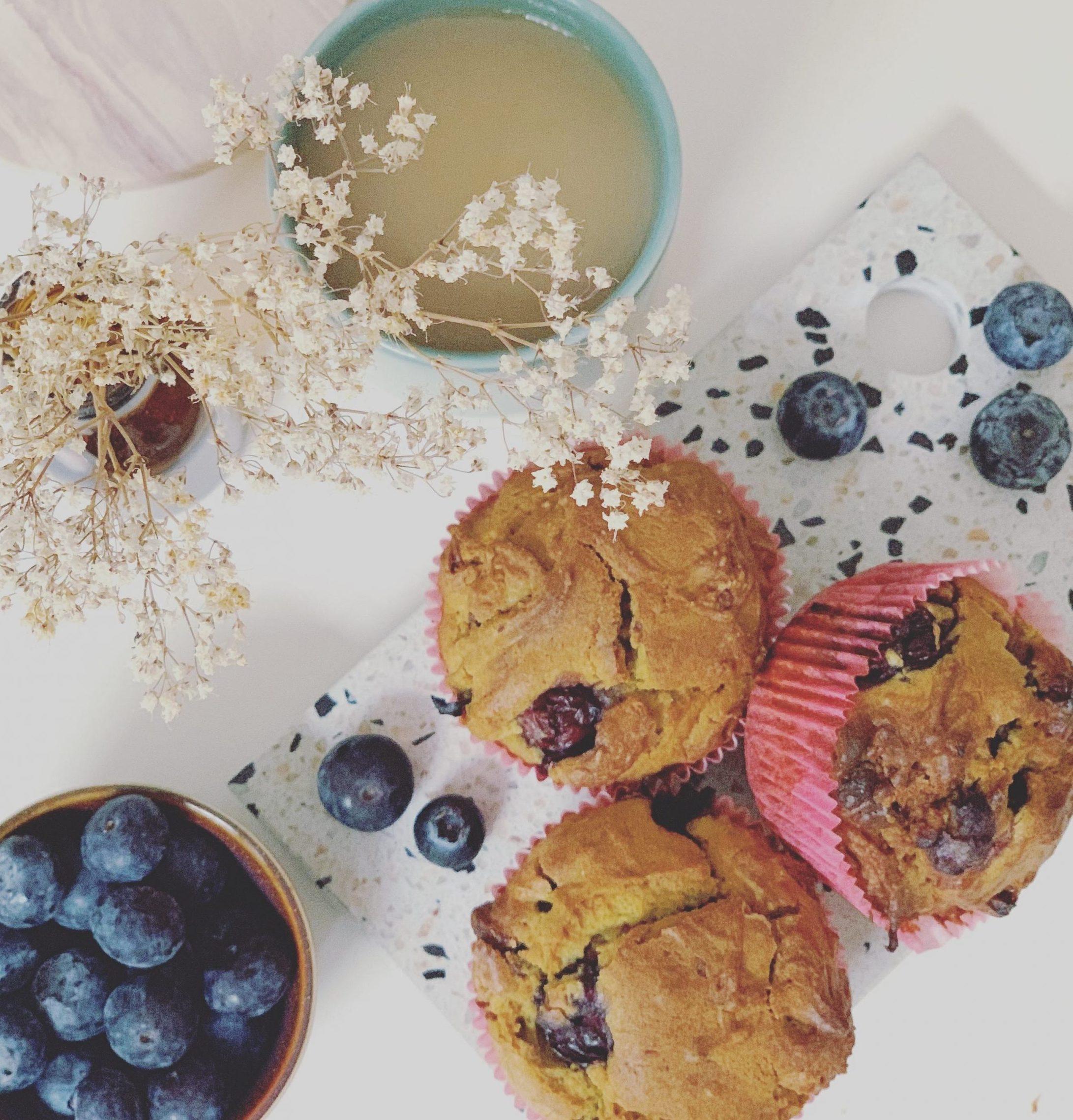 Danone yogurt blueberry muffins