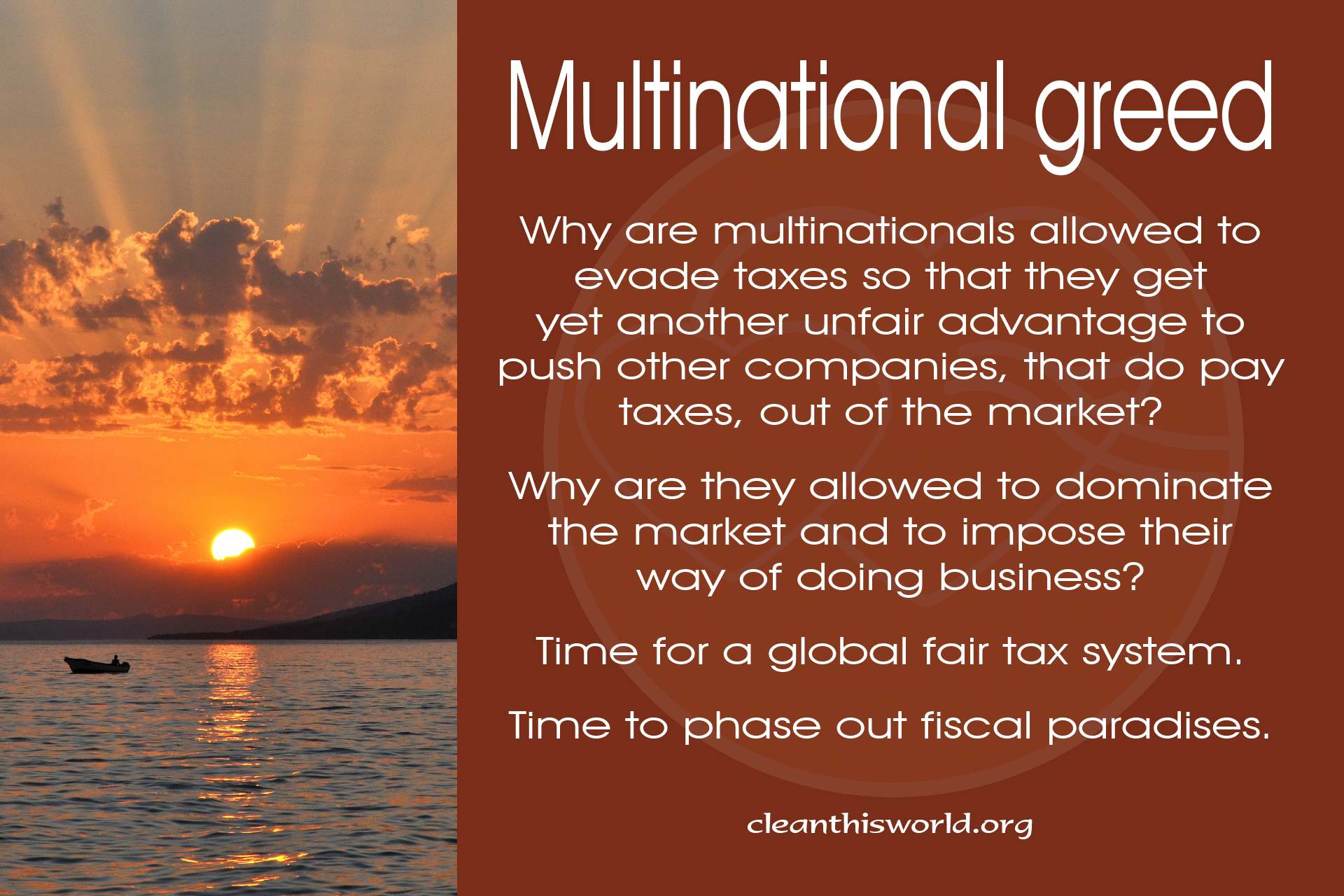 Multinational greed