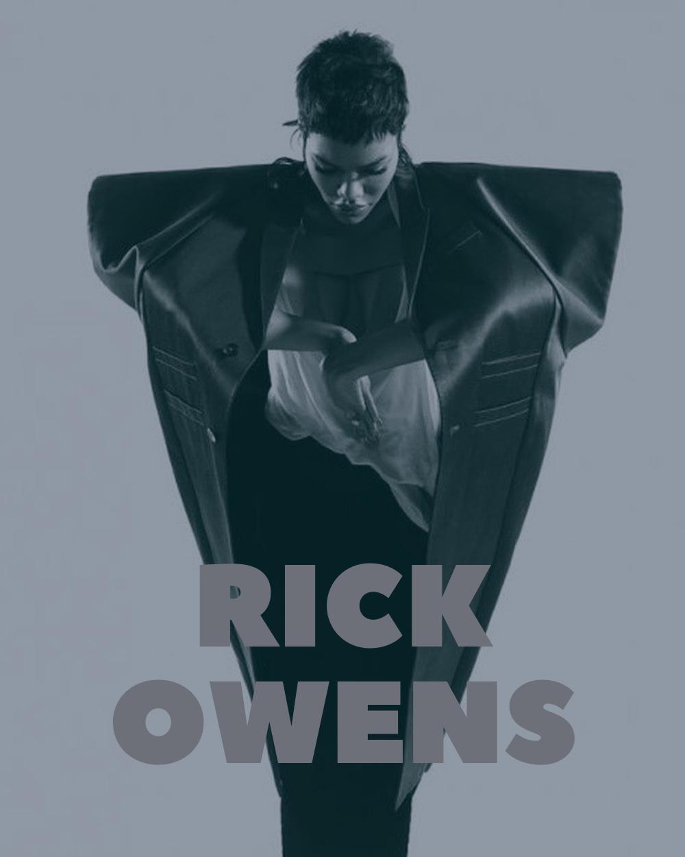 RICK OWENS Modern grunge
