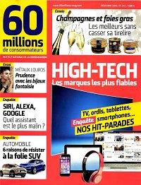 magazine 60 millions de consommateurs en abonnement. Black Bedroom Furniture Sets. Home Design Ideas