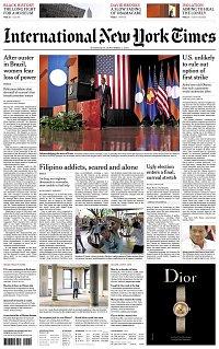 e758ad320 The New York Times International Edition n°160907 du 07 septembre 2016