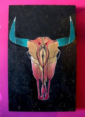 Bull Skull Emerald