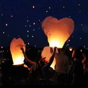 Heart-Shaped Sky Lantern