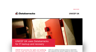 UNICEF UK uses Databarracks for IT backup and recovery