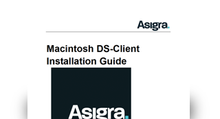 Asigra DS-Client Installation Guide - Mac