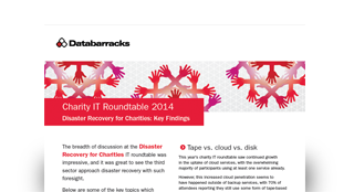 Disaster Recovery for Charities: Key Findings