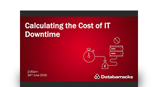 Calculating the cost of IT downtime
