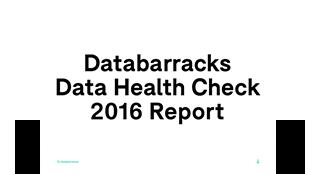 Data Health Check 2016 - Report