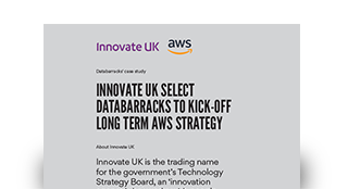 Innovate UK select Databarracks to kick-off long term AWS strategy