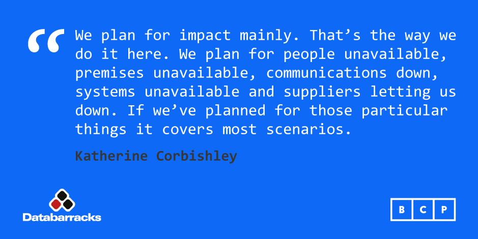 Plan for impacts not scenarios