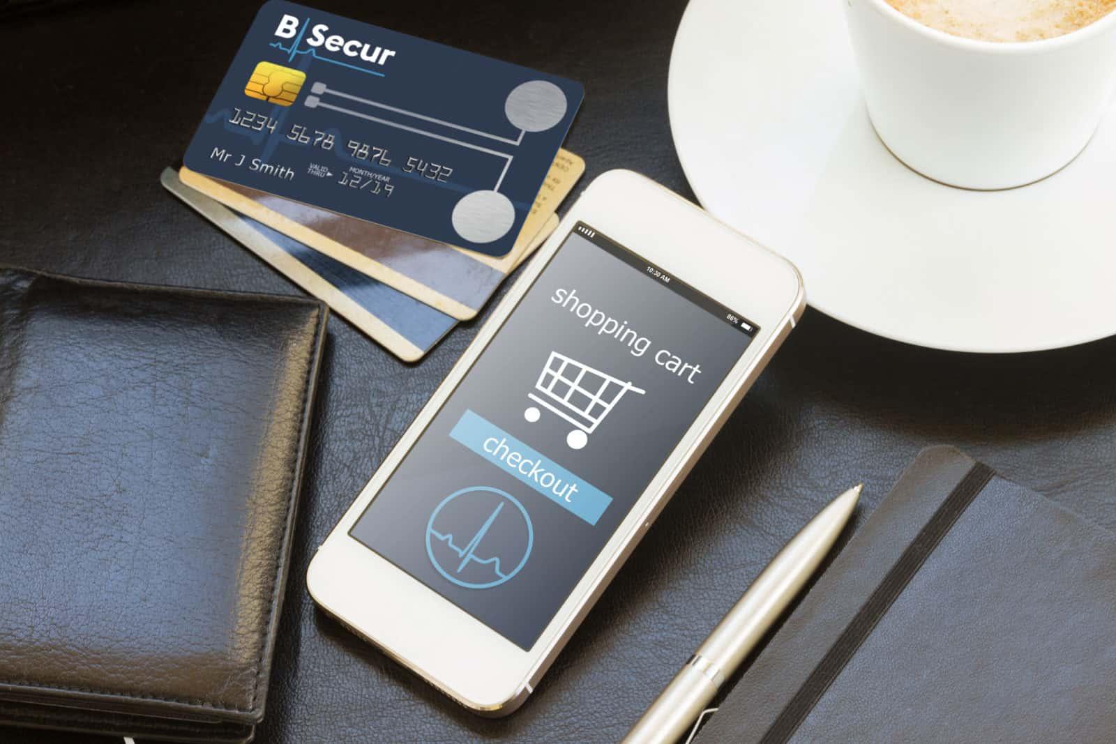 Mobile phone and B-Secur biometric card