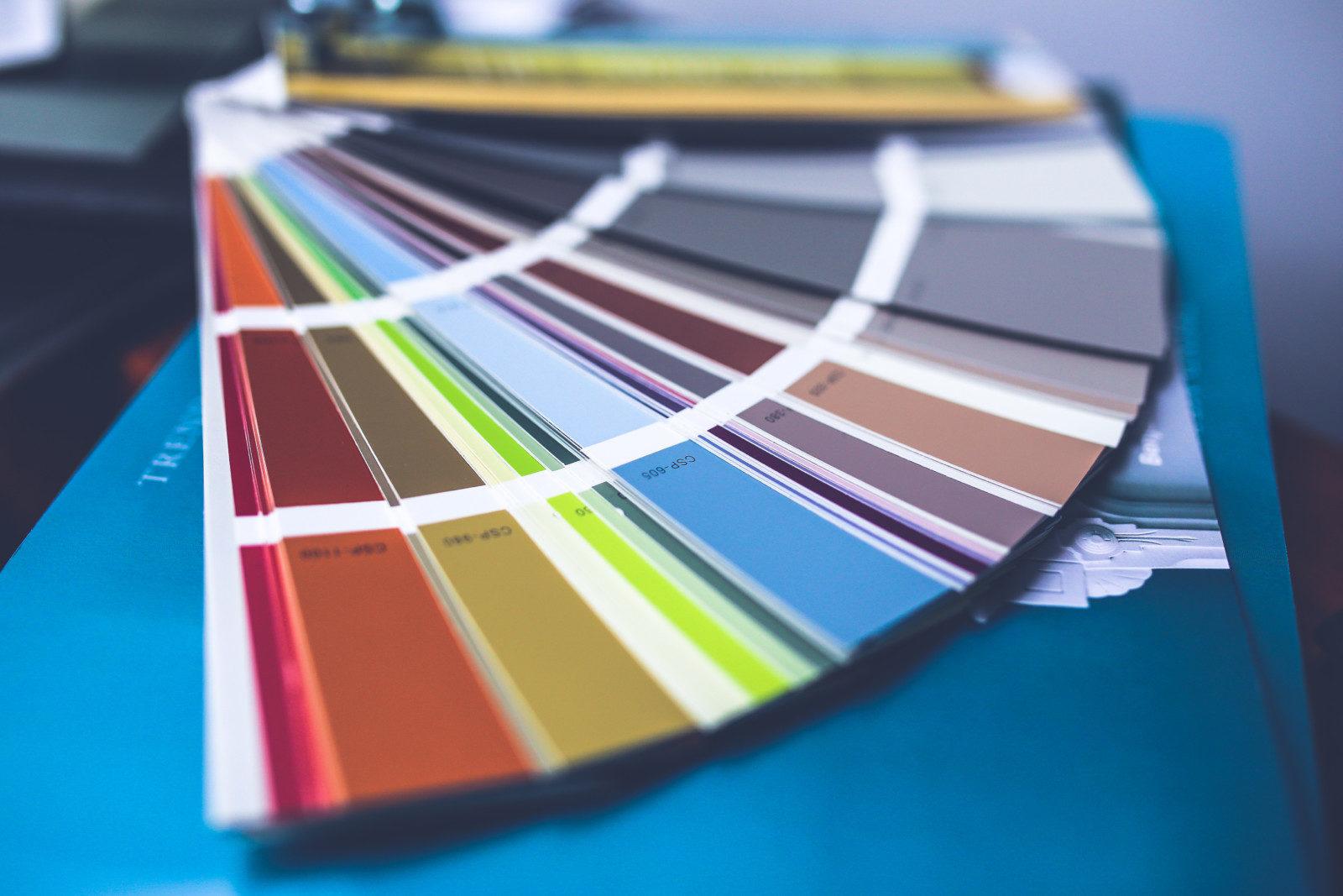 Colour (design) swatches