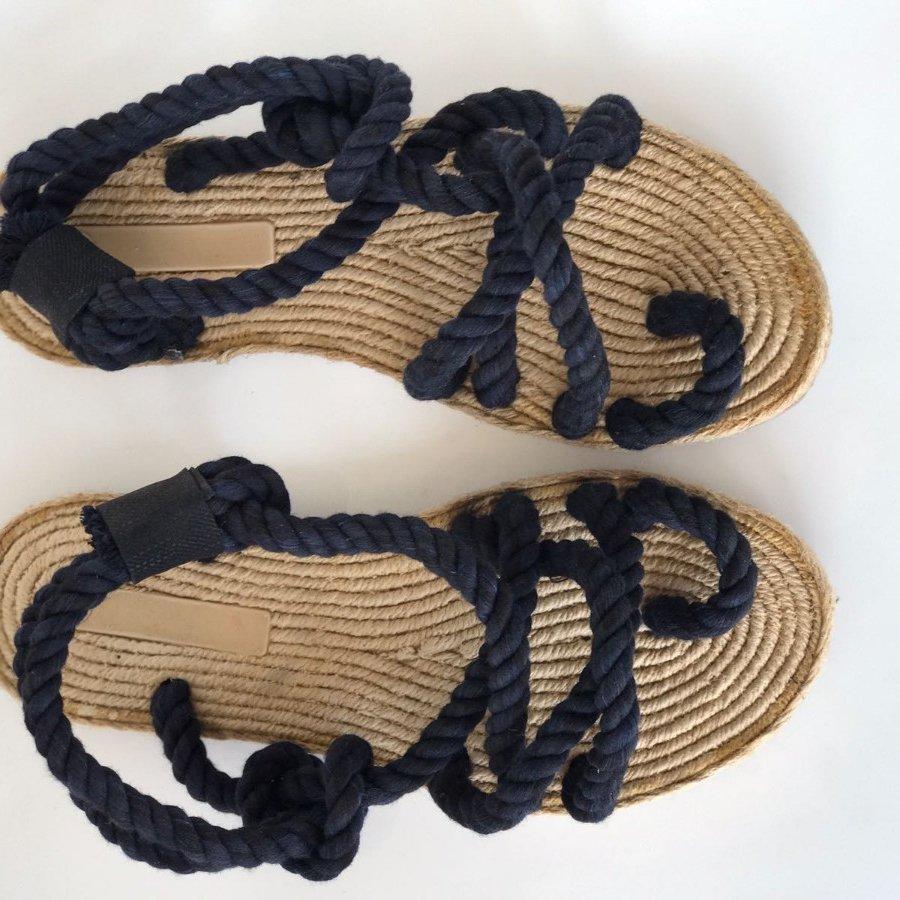 Liva F3 Siyah Örgü Sandalet
