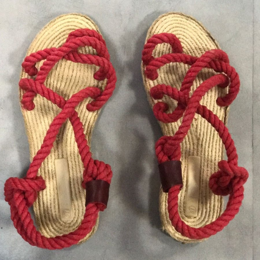 Liva F3 Kırmızı Örgü Sandalet