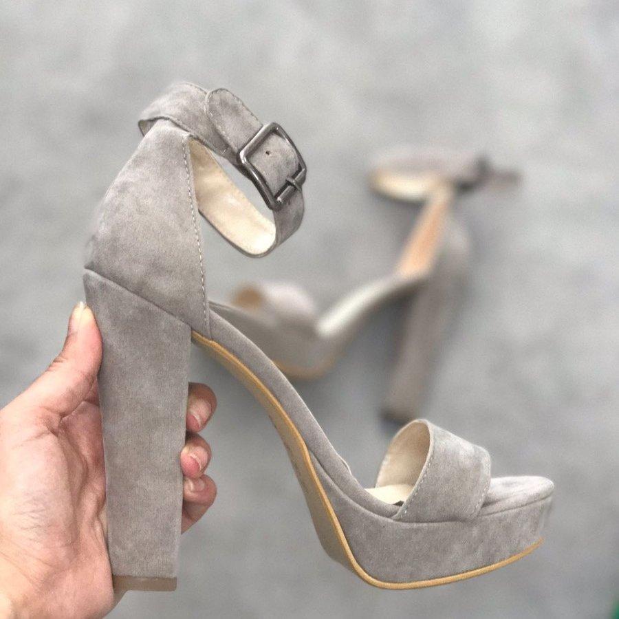 Wells Vizon Süet Platform Topuklu Ayakkabı