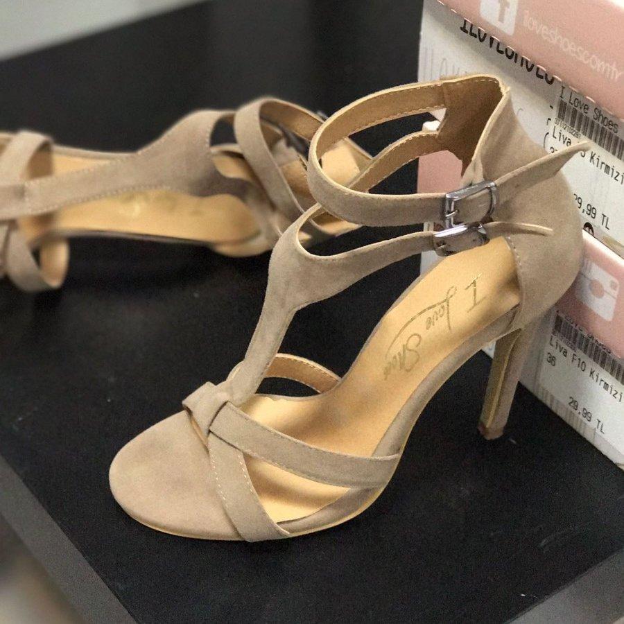 Rayne Vizon Süet İnce Topuklu Ayakkabı
