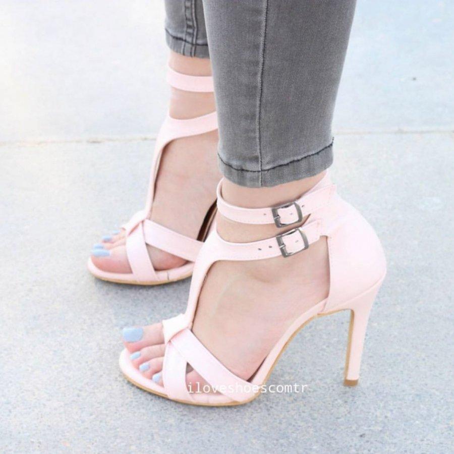 Rayne Pudra Cilt İnceTopuklu Ayakkabı