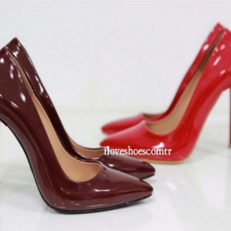 Barbie Bordo Rugan Stiletto Ayakkabı