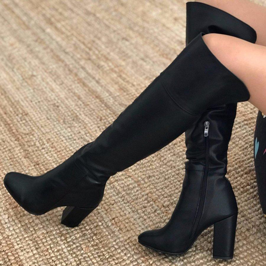 Arella Max Siyah Cilt Çizme