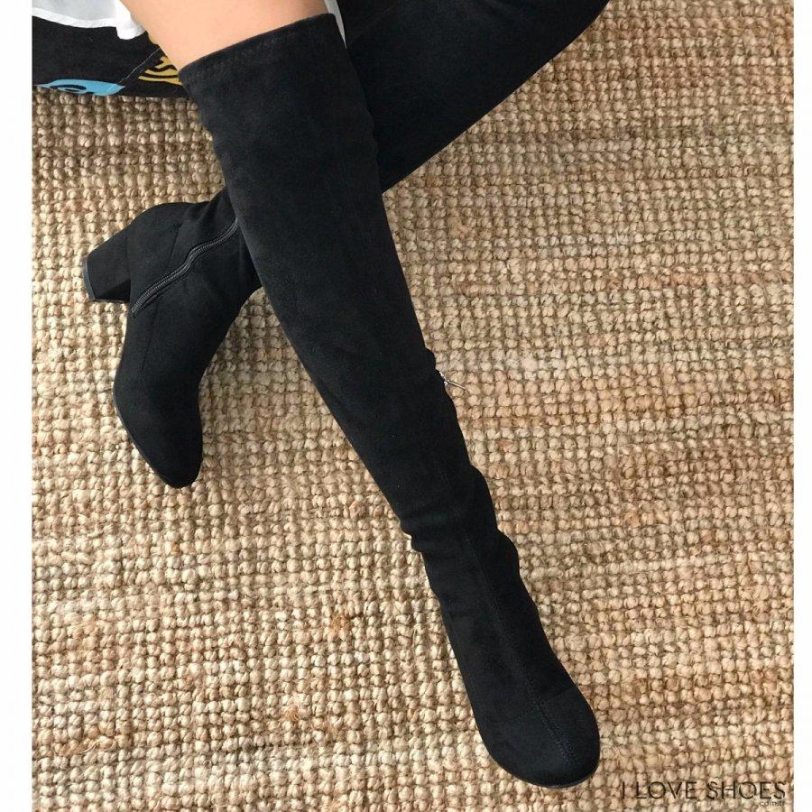 Fonza Mini Siyah Süet Çorap Çizme