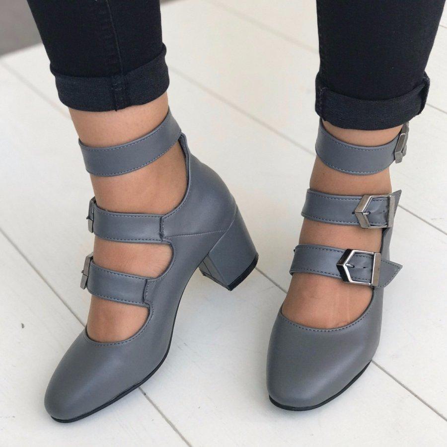 Carmen Mini Gri Cilt Ayakkabı