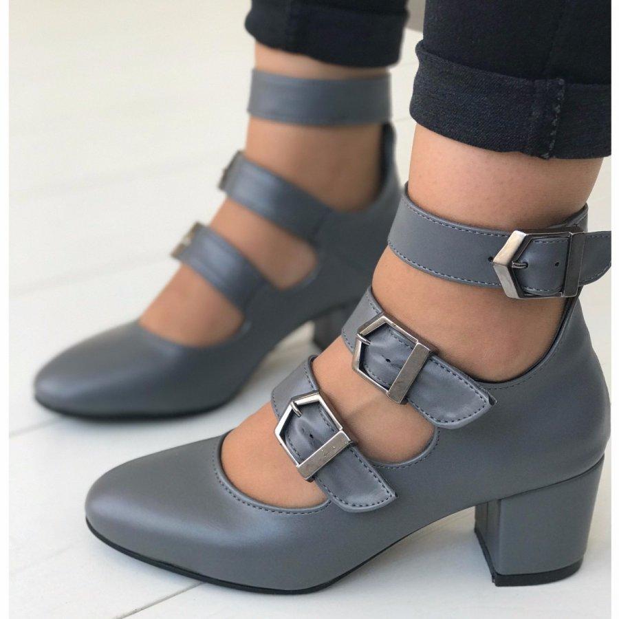 Carmen Mini Gri Cilt Ayakkabı Gri