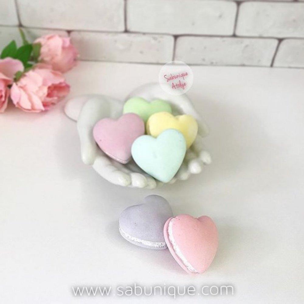 Kalp Macaron Silikon Kalıbı