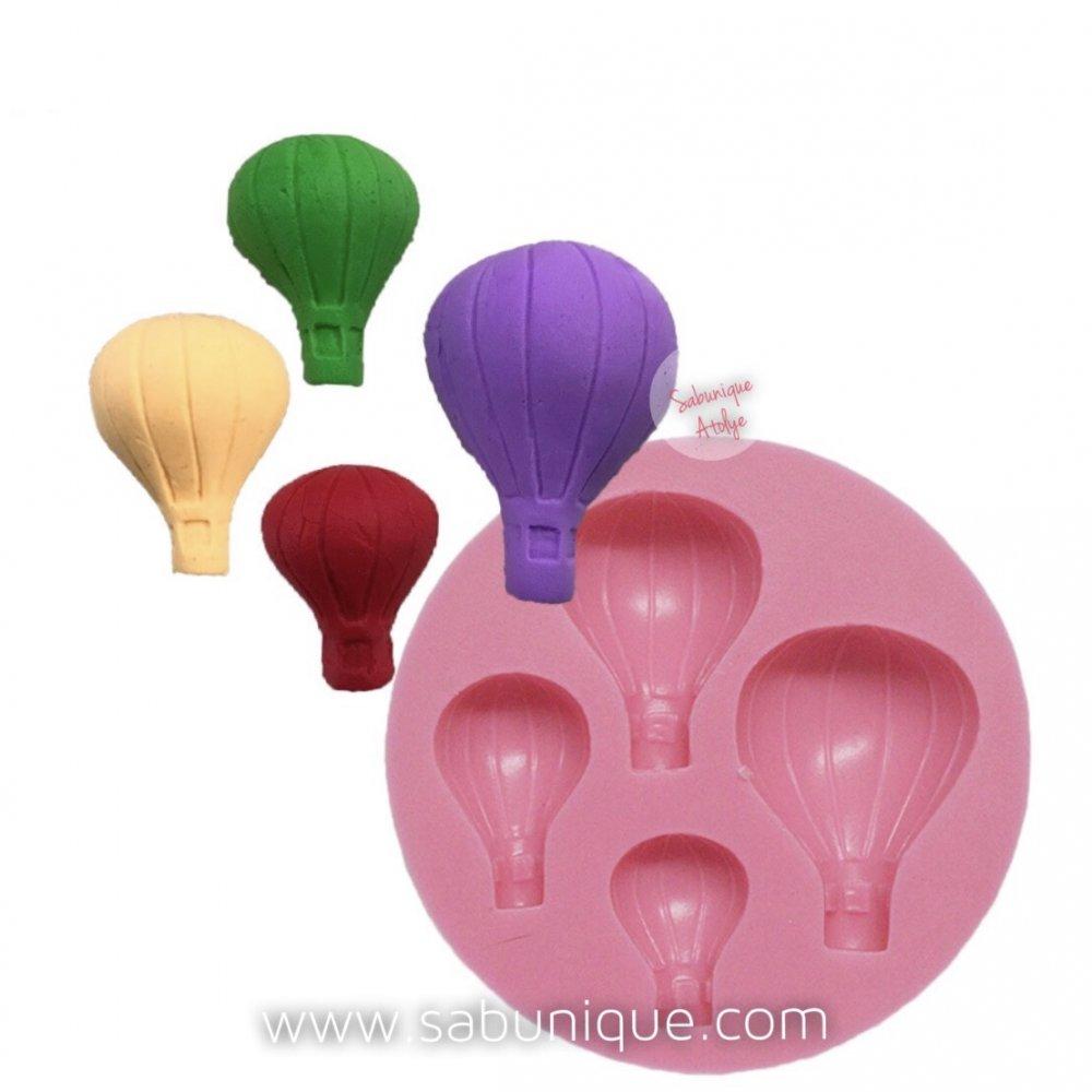 Dörtlü Uçan Balon Çoklu Silikon Kalıbı