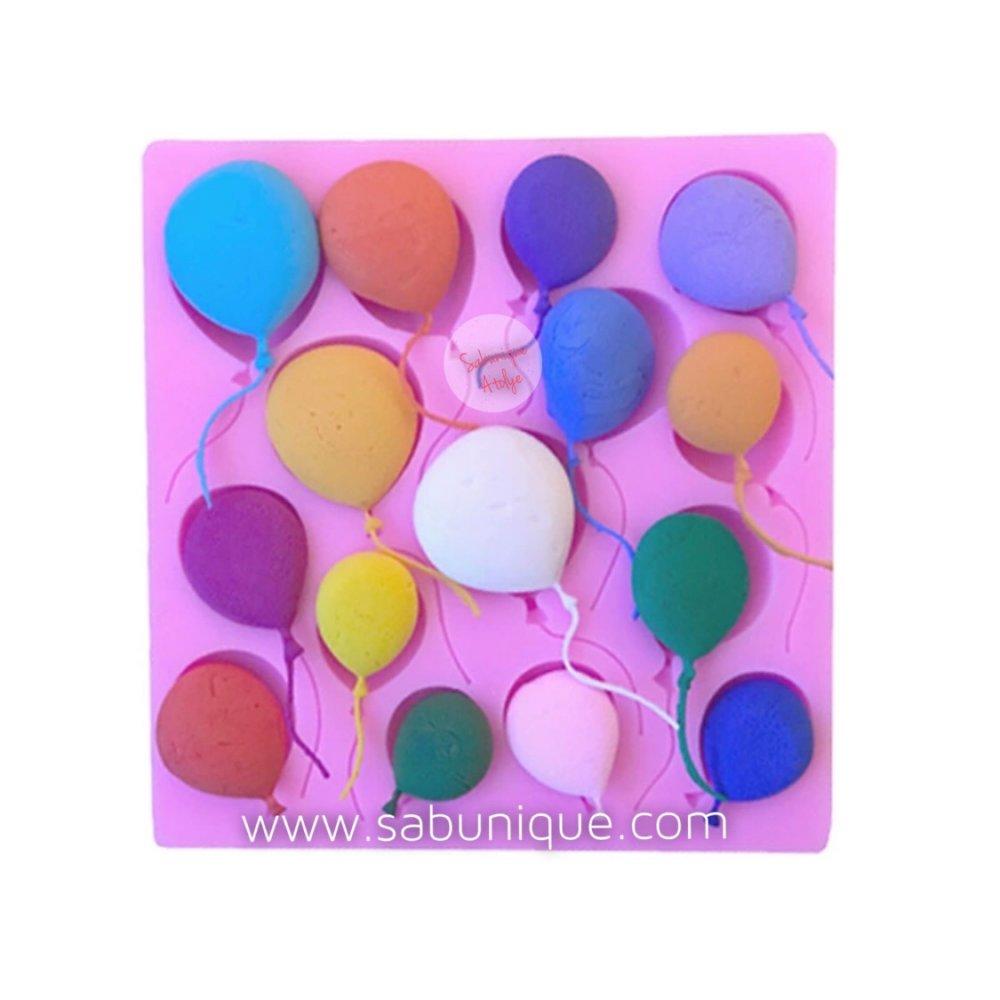 Çoklu Yassı Form Balonlar Silikon Kalıbı