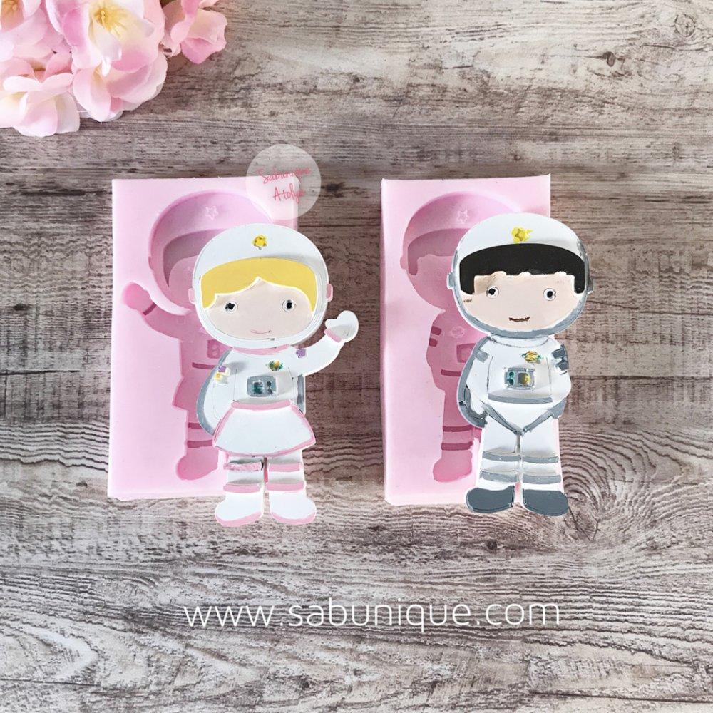 Kız ve Erkek Astronot Silikon Kalıpları