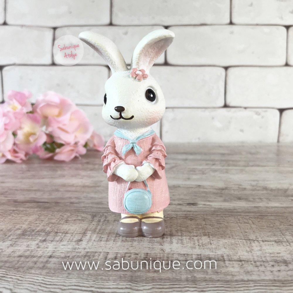 Çantalı Sevimli Tavşancık Silikon Kalıbı