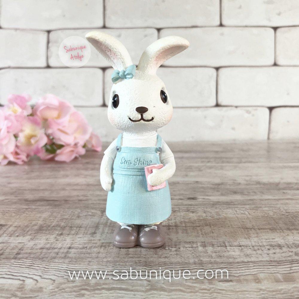 Kitaplı Sevimli Tavşancık Silikon Kalıbı