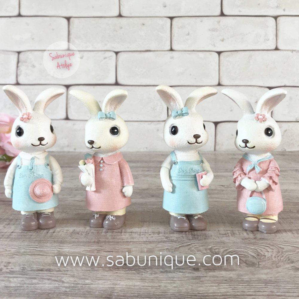 Sevimli Tavşancık Seti Silikon Kalıbı