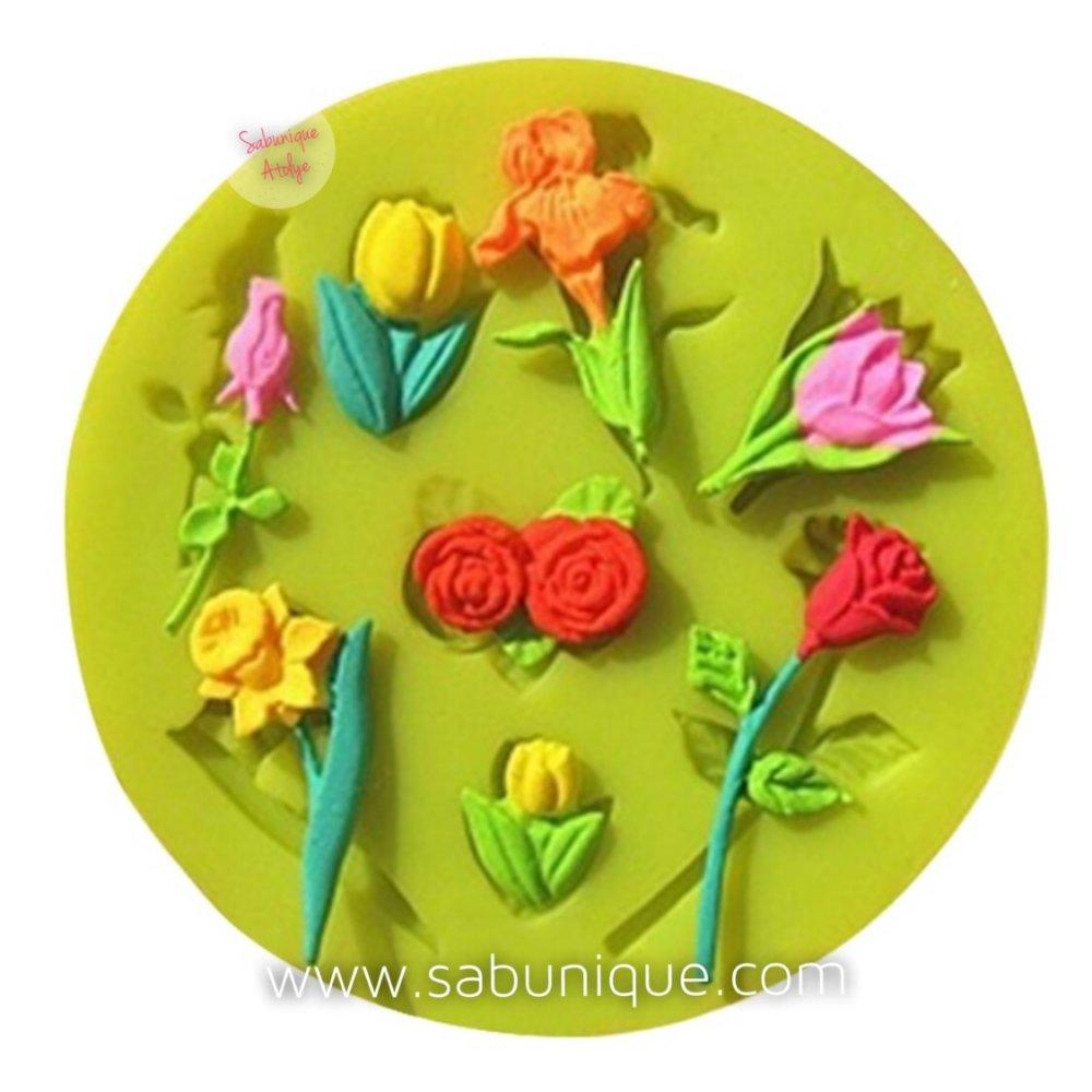 Çoklu Minik Çiçek Süsleme Silikon Kalıbı
