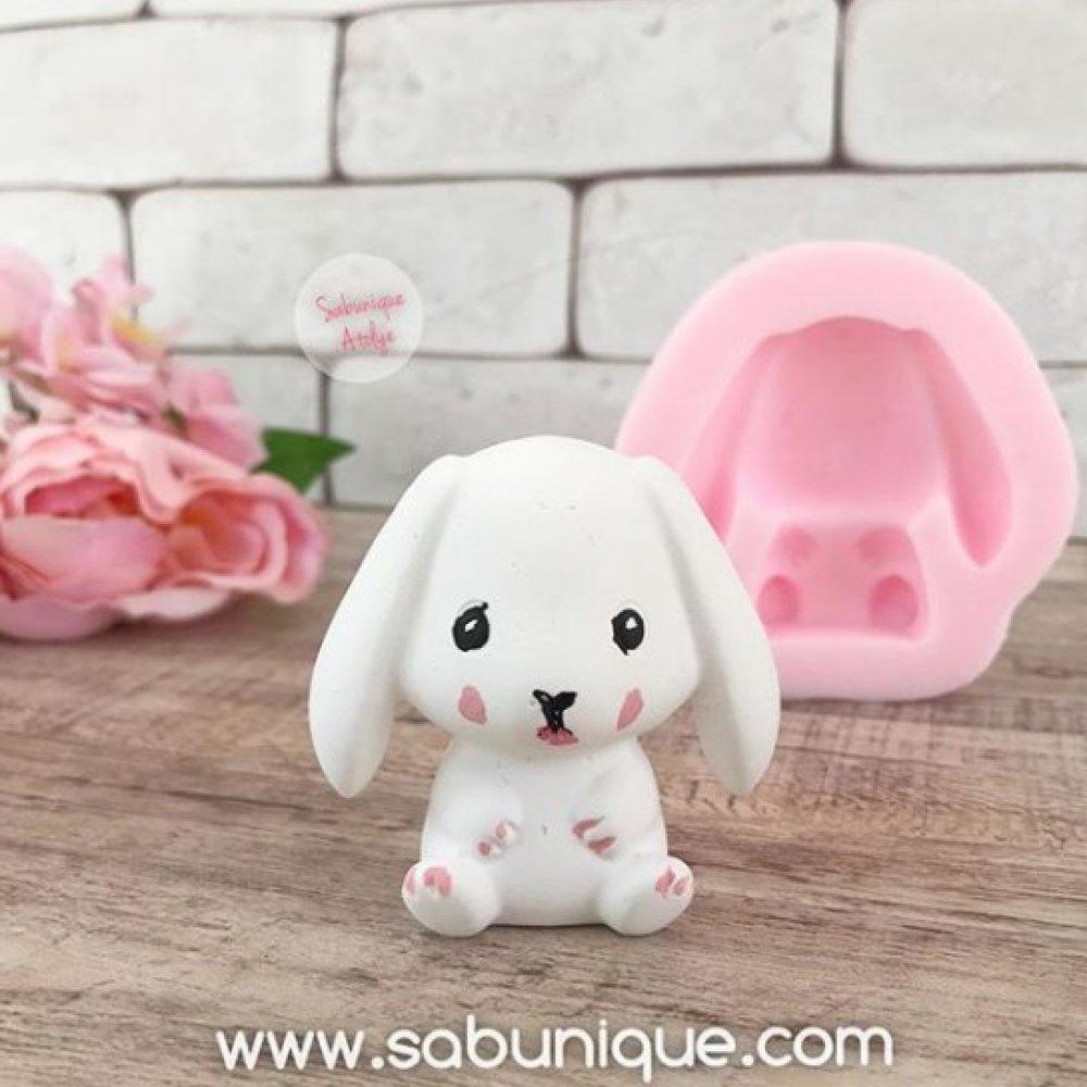 Sevimli Tavşan Silikon Kalıbı