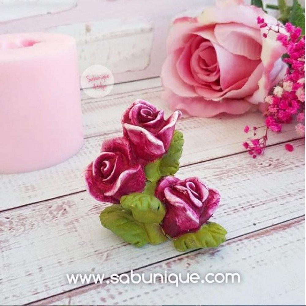 Dallı Güller Silikon Kalıbı