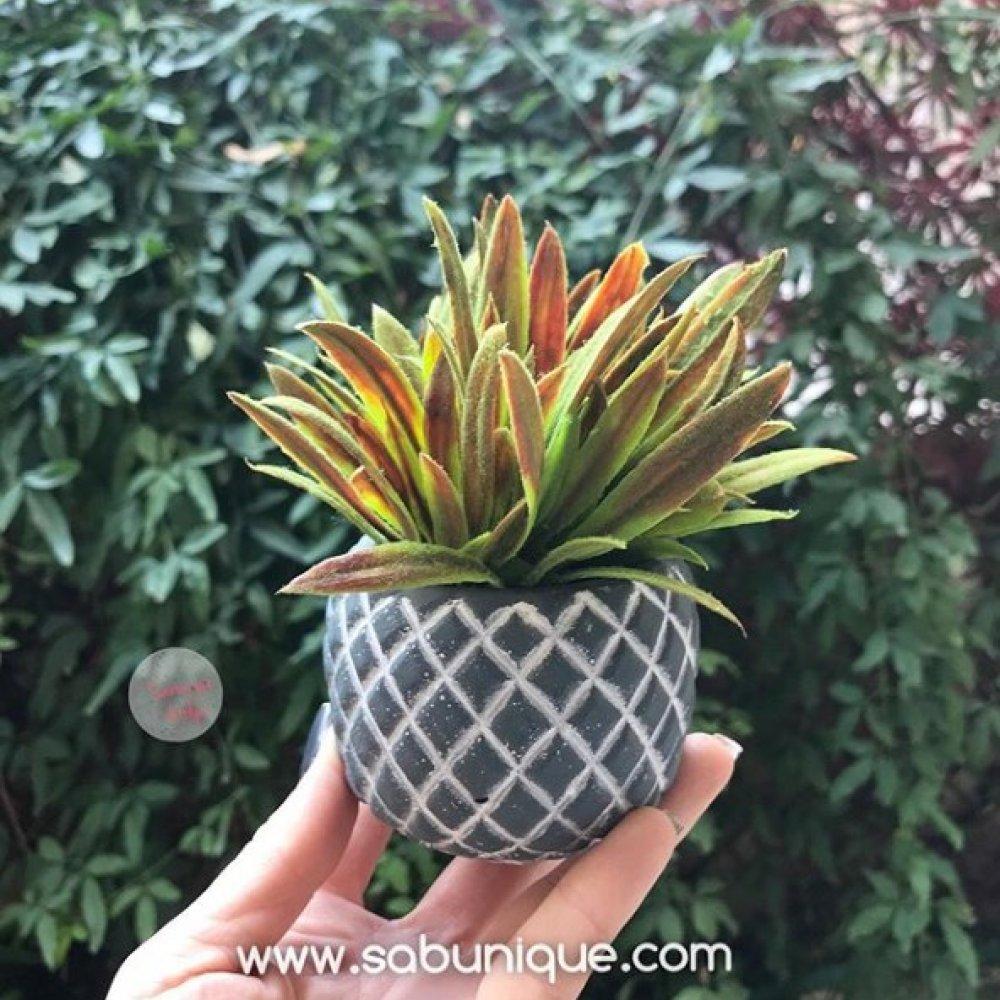 Ananas Yüzeyli Saksı Silikon Kalıbı