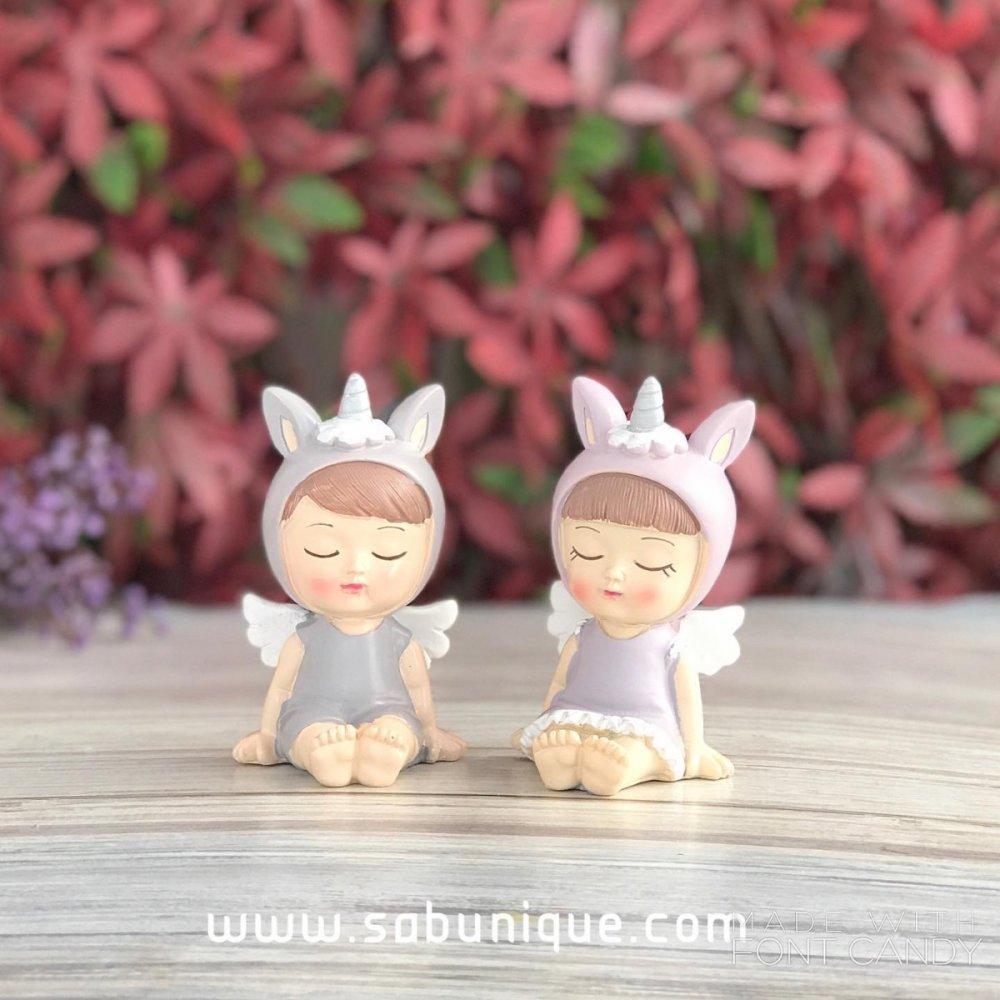 İkili Unicorn  Bebekler Silikon Kalıbı