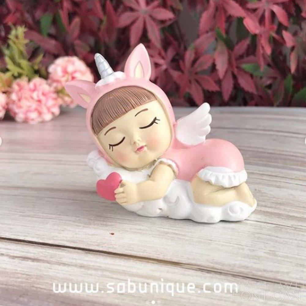 Kalpli Uyuyan Unicorn  Bebek Silikon Kalıbı