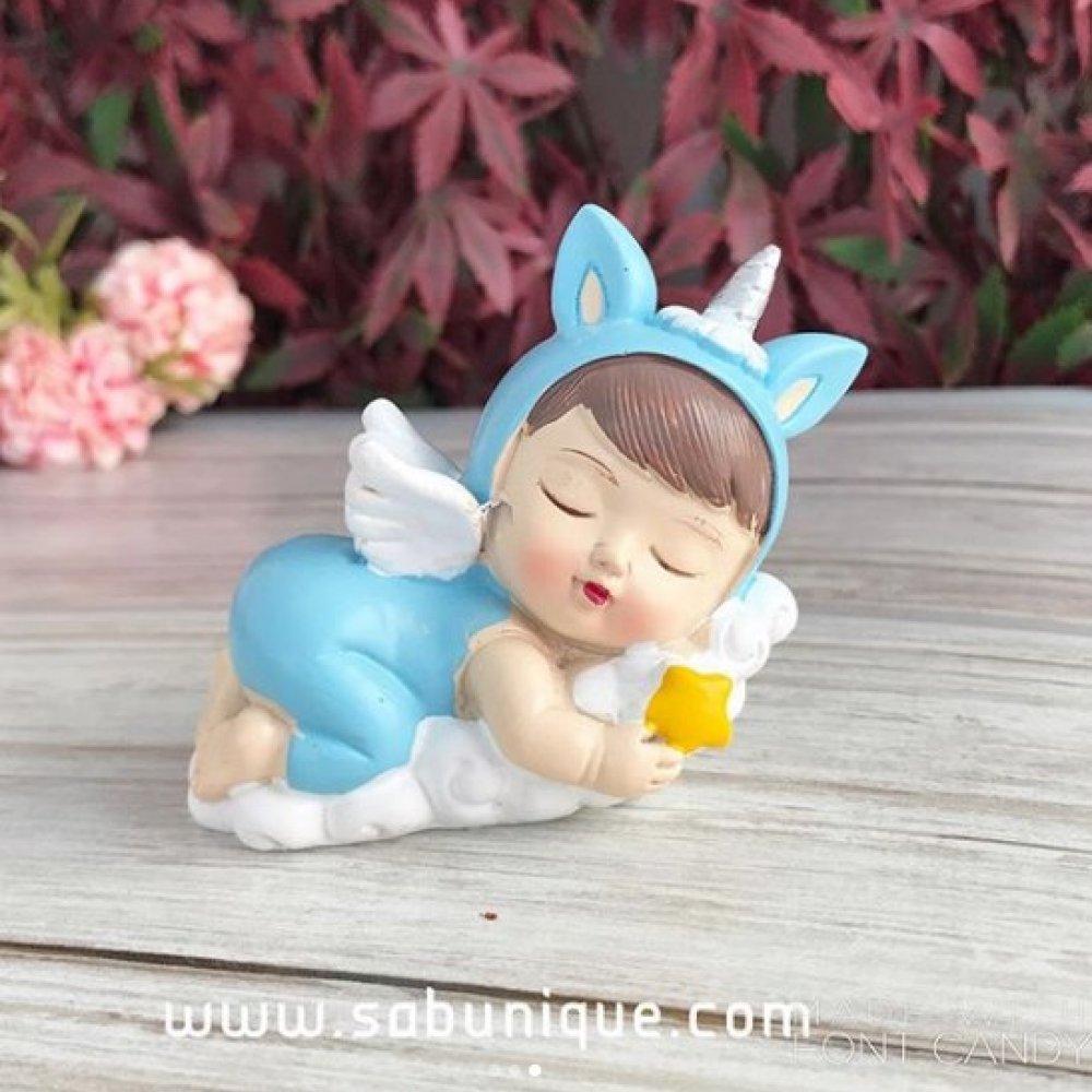 Yıldızlı Uyuyan Unicorn Bebek Silikon Kalıbı