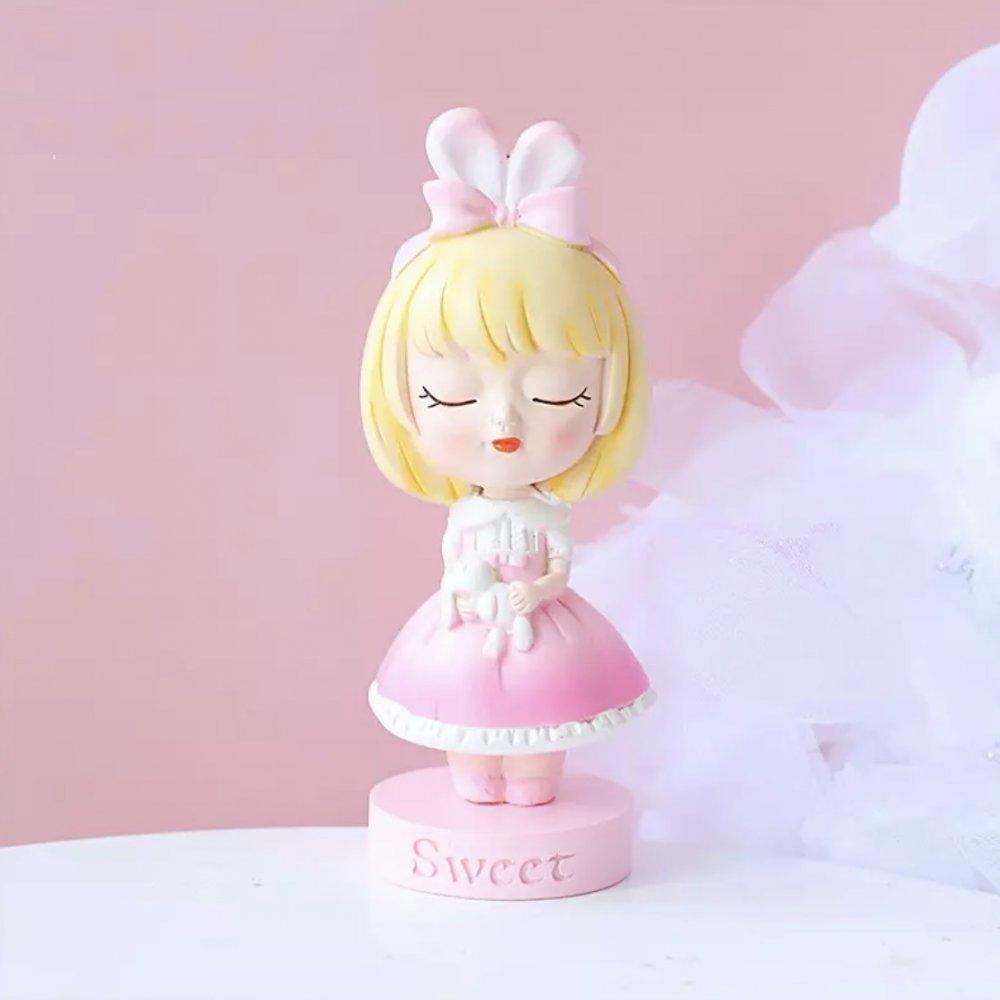 Tavşan Kulaklı Tatlı Kız Silikon Kalıbı