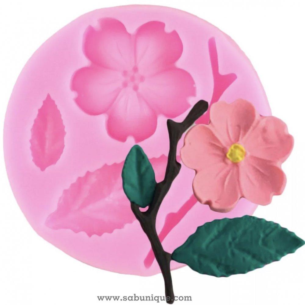 Küçük Çiçek Süsleme Silikon Kalıbı