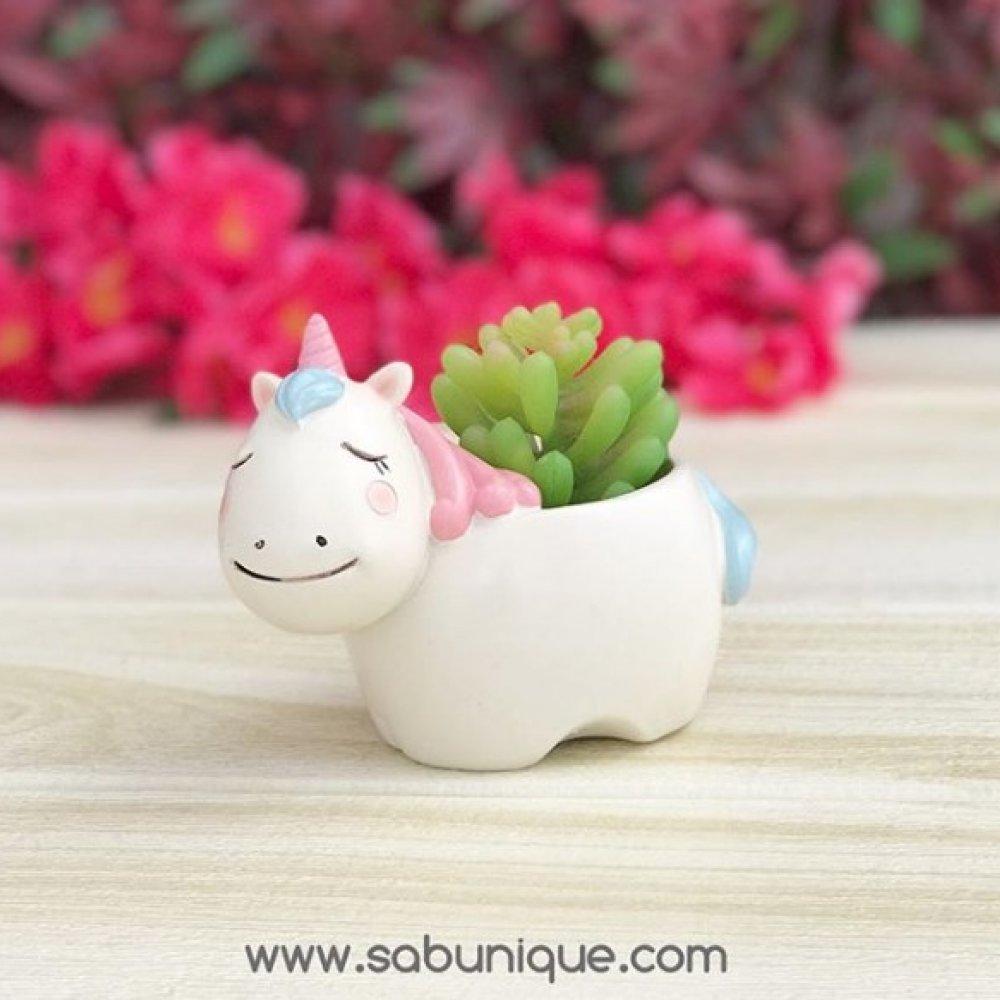 Sevimli Unicorn Saksı Silikon Kalıbı